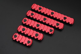 Wholesale Chinese Red Slots Aluminum Picatinny Weaver Rail Section for KeyMod handguard