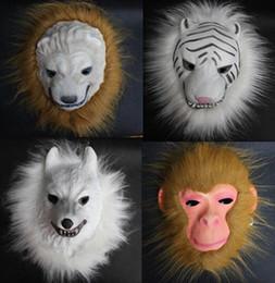 Wholesale Masquerade masks EVA burr masks Lion tiger monkey wolf Halloween mask HJIA868
