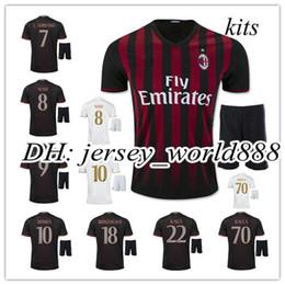 Wholesale best quality AC Milan soccer jersey kits BACCA KAKA home red away white BONAVENTURA AC Milan football men shirts