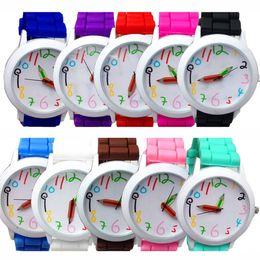 Korean Luxury for Woman Band Silicone Watch Quartz Cute Digital Fashion Quartz Casual Watch Analog Wrist Watch for Woman