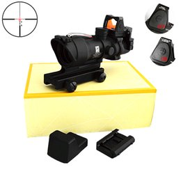 Wholesale 2016 New Version Trijicon TA31 ACOG Style X32 Real Fiber Source Duel Illuminated Sight Scope RMR Micro Red or Green Fiber