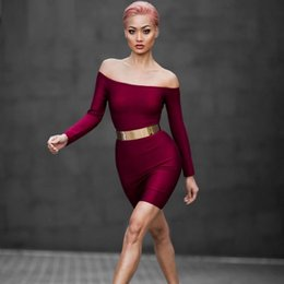 hot 2016 bid discount Sexy dress Women Sleeveless Sling V-neck knitted Celebrity Bodycon Evening Party dress red black Bandage Dresses