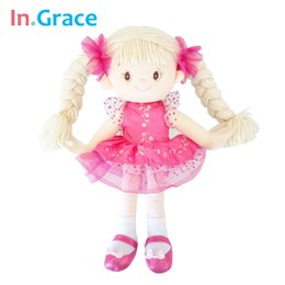 Wholesale In Grace SWEET ballerina dolls red cloth materials princess dolls for girls handmade toy doll inch with braid hair cute gift