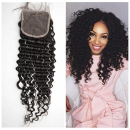 Mongolian Deep Wave Lace Top Closure With Baby Hair Natural Black Unprocessed Human Hair LaurieJ Hair