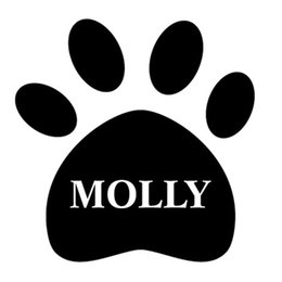 Wholesale Home Decor Wall Sticker Personalized dog name on Paw Print Vinyl Decal Stickers for Container Dog food cans