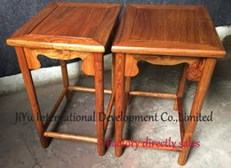 Wholesale Chinese antique Square shaped stand in natural lacquer craft console tables CM height in African Red sandalwood wood table