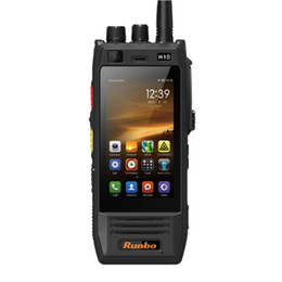 Wholesale Runbo H1 H1b Andriod OS Waterproof IP67 Rugged GSM WCDMA G Lte Industrial Grade Phone Watts Output DMR Tier Analog Two Way Radio