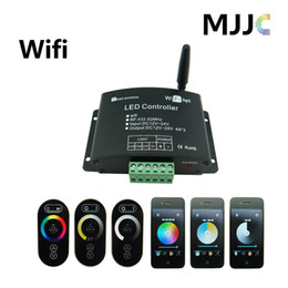 NEW PRODUCTS 2PCS 12-24V WIFI LED Controller for LED Strip Lights RGB Color Temperature Adjustable Dimmer RF Remote optional by Iphone,Ipad