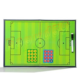 Outdoor PVC Foldable Soccer basketball Coach Match Training Tactical Plate Coaching Board Kits magnetic teaching board Coach Board