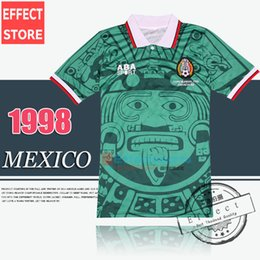 Wholesale Best Thailand Quality Retro Version Mexico World Cup Classic Vintage Mexico retro jersey HERNANDEZ football shirt