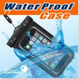 Wholesale Dry Bag Waterproof bag PVC Protective Mobile Phone Bag Pouch With Compass Bags For Diving Swimming Sports For iphone plus S7 NOTE