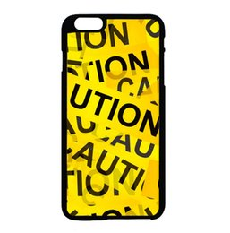 Wholesale Caution Yellow Tape fashion cell phone case for iphone s s c s plus