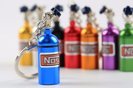 Wholesale Car Styling Colorful NOS Nitrogen Gas Acceleration system Cylinder bottle Keychain Keyring Key Ring Chain JDM Universal