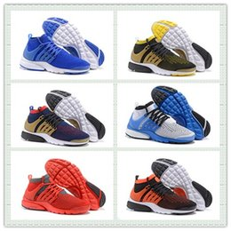 Wholesale Hot Sale Mesh Olympic Air Presto Ultra Running Shoes Triple Black Blue Knit Men Women Sports Sneakers With Box Size US5