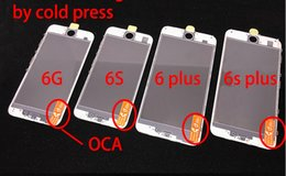 6PCS AAA+ 3 in 1 Front Outer Glass with Frame OCA Film Pre-installed Cold Press Replacement for iPhone 6 6 plus Touch Panel