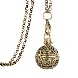 Wholesale Myshape Religious Hollow Out Lantern Sachet Diffuser Fragrance Pendant Permium Aromatherapy Essential Necklaces Jewelry Gift for Birthday