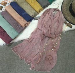 Wholesale Japan and South Korea new foreign trade shawls embroidered butterfly fold silk scarves Ms sunscreen clothing manufacturers s