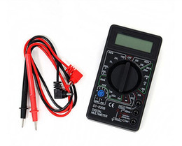Wholesale LCD Digital Multimeter DT830B test DC AC Voltage DC Current Resistance tester Cost effective AC DC Ammeter Voltmeter