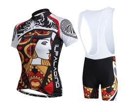 Wholesale Brand New PALADIN Poker Heart Cards Summer Cycling Jersey Sets Breathable Quick Dry Bike Bicycle Jersey Bib And Non bib Pants