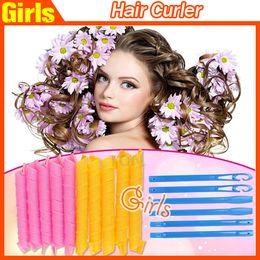 Wholesale High quality DIY MAGIC Hair Curler Roller Magic Circle Hair Styling Rollers Curlers Leverag perm set Fast shipping