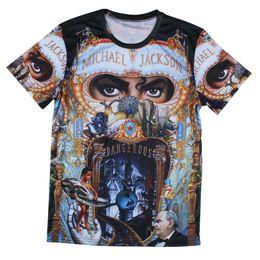 Wholesale Men Michael Jackson Rock Print T shirts The Big Bang Theory Sheldon Harajuku Blusas Summer Style T Shirts Plus Size T shirts Tees