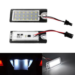 Wholesale 2x18 LED Error Free Number License Plate Light Lamps Auto Light Car Light Source Accessories Fit For Volvo V70 XC70 S60 S80 XC90