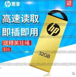 Wholesale 32GB GB GB GB High quality HP v225w USB flash drive pendrive USB memory stick USB External storage dis