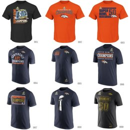Wholesale Broncos Super Bowl th Champions T Shirts cheap rugby football jerseys Tshirts Denver navy orange black