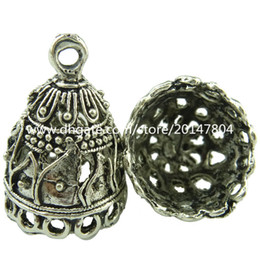 Wholesale 19042 Vintage Antique Silver Sailboat Totem Filigree Pendant Tassel End Cap