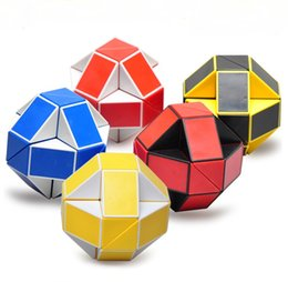 Mini Creative Magic Snake Shape Toy Game 3D Cube Puzzle Twist Puzzle. 24 Passage Changeable Magic Ruler Fold Into Shapes. Toy Random In