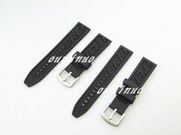 Regarder bracelet en caoutchouc noir en Ligne-22mm 24mm Nouveau Hommes De Haute Qualité Black Diver Silicone Rubber Bandes Bandes Utilisation De Bracelet Pour Breitling Watch