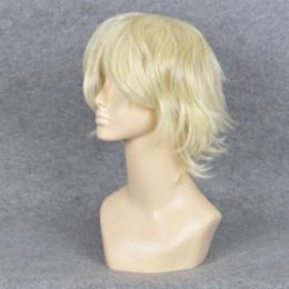Wholesale Axis Powers Hetalia DuRaRaRa Shizuo Heiwajima Short Light blond Cosplay Party Wig Arthur Kirkland BE3130