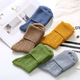 Fashion Candy Color Girls Leg Warmers New Designs Cotton Long Stockings Korean Style Women Boots Socks