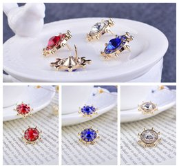 Pin badges Korean navy wind anchor jewelry diamond brooch shirt collar pin male and female suits