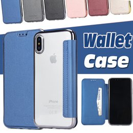 Wallet Case Electroplating Flip Plating Soft TPU Leather With Card Slot Cover For iPhone XS Max XR X 8 7 6 Plus Samsung Galaxy S9 S8 S7 Note