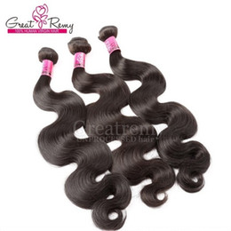 Greatremy® Mongolian Hair Weft Body Wave Wavy 3pcs lot Remy Human Hair Extension Natural Black Hair Bundle Greatrmy Factory Price Wholesale