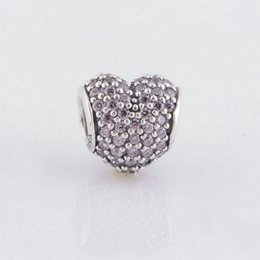 Beads charms sale heart crystal S925 sterling silver fits pandora style bracelet free shipping LW251D