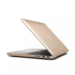 Wholesale laptop bag pc metal feel hard gold crystal Shell Cases for Macbook retina colors hot sale