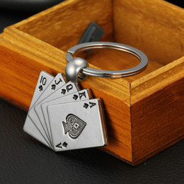 Wholesale Style Metal Key Chain Ring Best Gift Poker Keychain Keyfob Keyring C00074 FSH