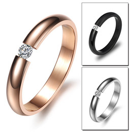 2016 hot Couples jewelry jewelry gift Korean version of the Fashion diamond jewelry Titanium Steel Couple Ring Rings