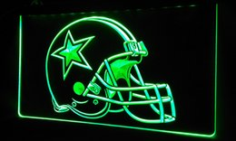 Promotion panneaux de cowboy LS414-g Dallas Cowboys Helmet Beer Bar Neon Light Sign