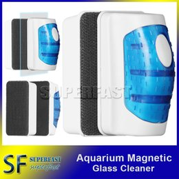 Wholesale Magnetic Aquarium Fish Tank Glass Algae Scraper Cleaner Floating Clean Brush Clean Scrubber Cleaning Tools for m Fishbowl Retail Bag