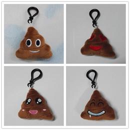 Wholesale Baby Toys Keychains Cute Cartoon Plush Pendant Car Keychains New cm Emoji Poop Smiley QQ Expression Styles