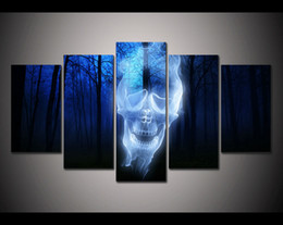 Wholesale Print Framed forest skull ghost horror picture poster modern home decor wall art print Halloween Painting on canvas art PT0045