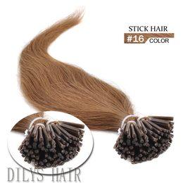 Brazilian Keratin Stick hair 0.5g strands 100s pack #16 I Tip Hair Human Hair Extension