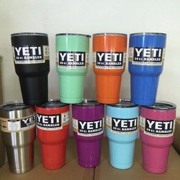 Wholesale 9 Colors Yeti Cup oz Rambler Tumbler Bilayer Stainless Steel Insulation Cups Cars Beer Mug Large Capacity Mug Tumblerful