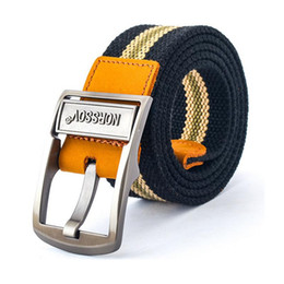 2016 Fashion Canvas Belt Men Striped Strap New Male PU Leather Casual Metal Buckle Belts Military Belt Army Tactical Z2167