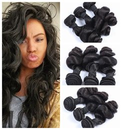 Unprocessed Peruvian Hair Weave Top Grade Cuticle Peruvian Human Hair Extension natural black Loose Wave 8-30inch G-EASY hair