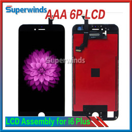 Grade AAA Quality iPhone 6 Plus LCD Display Touch Screen Digitizer full Assembly iPhone 6plus Complete Screen with Frame Free DHL