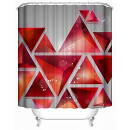 Wholesale Nature Panoramic Scenery View Picture Prints Polyester Fabric Bathroom Shower Curtain Set with Hooks